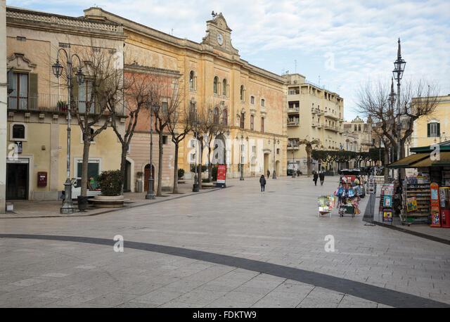Piazza Vittorio Veneto, Matera, Basilicata, Italy - Stock Image