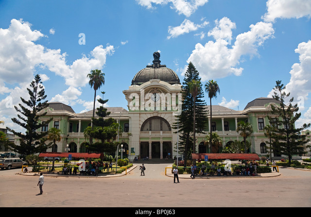 Mozambique, Maputo. The old railway station, built by Eiffel in the 1870s - Stock Image