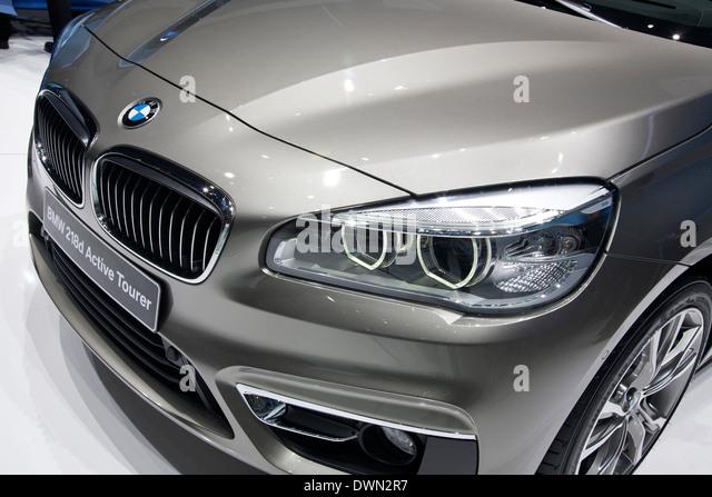 BMW 2-Series Active Tourer minivan at the 84th Geneva International Motor Show 2014. - Stock Image
