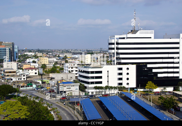 Quayaquil, Ecuador, city scenic taken from above - Stock Image