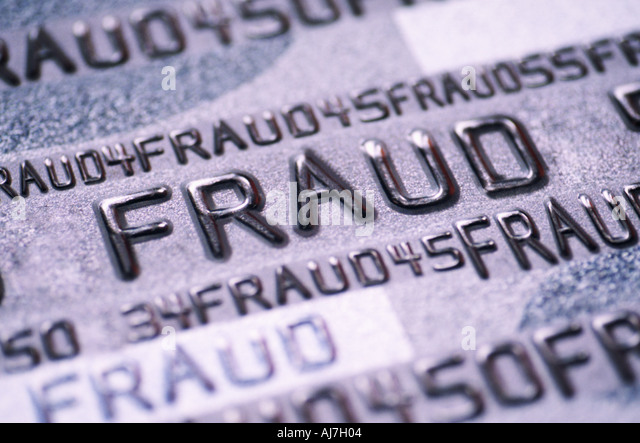 Credit bank card fraud - Stock Image