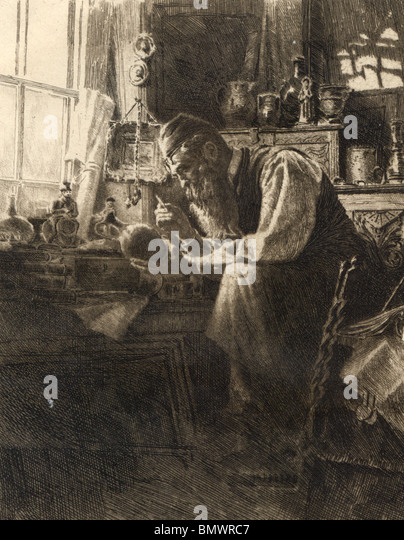 The Antique Dealer - Stock Image