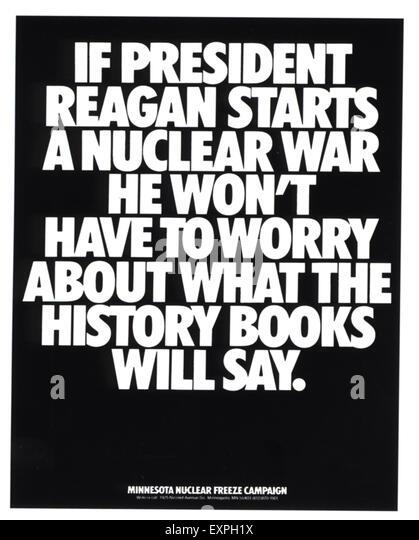 1990s USA Anti-War poster - Stock Image