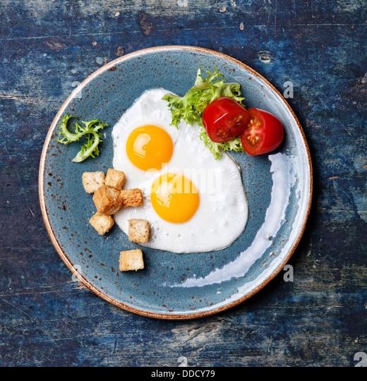 Traditional breakfast eggs - Stock-Bilder