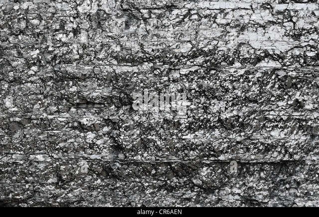Close-up of black fossil coal surface - Stock-Bilder