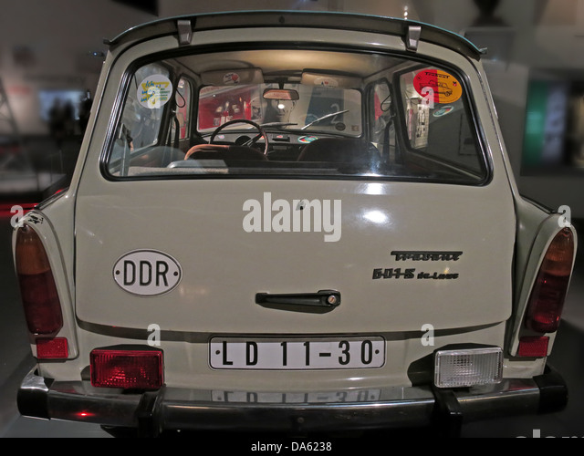 A Trabant car from the DDR - Stock Image