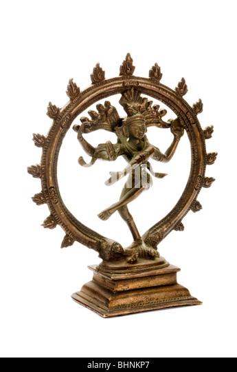 brone statue of vishnu - Stock-Bilder