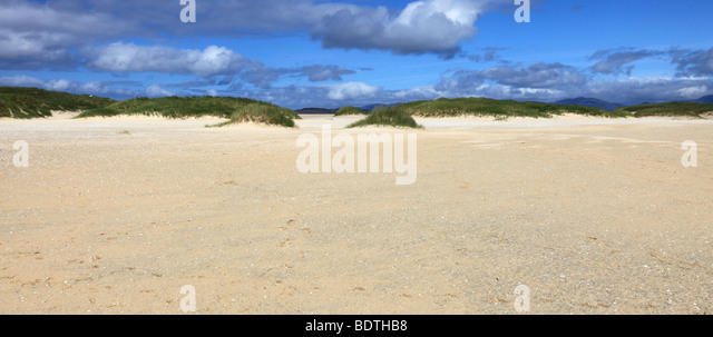 Beautiful beach at Scarista, isle of Harris, Outer Hebrides, Scotland - Stock Image