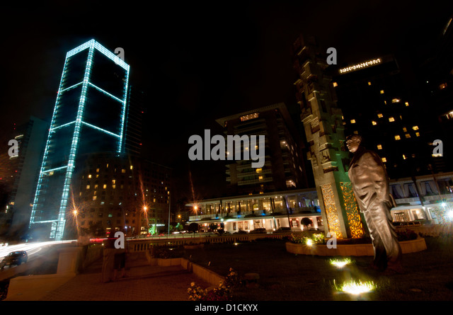 Monument to the memory of Rafiq Hariri, Lebanese politician, murdered February 14, 2005, Beirut, Lebanon landscape - Stock Image