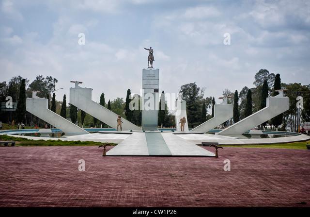 Monumento al General Ignacio Zaragoza in Puebla, Mexico. Ignacio Zaragoza Seguín was a general in the Mexican - Stock Image