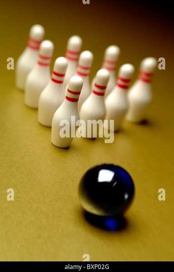 10 pin bowling - Stock Image