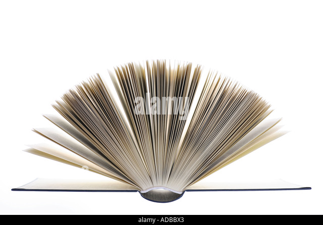 Pages of an open book. - Stock Image