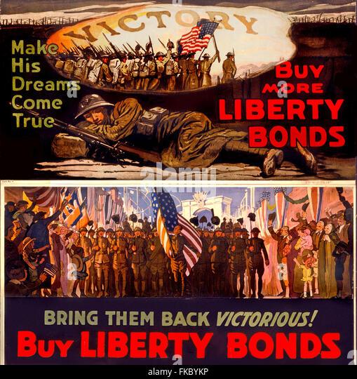 USA Illustrations Poster - Stock Image