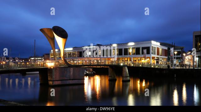 Pero's Bridge, spanning St Augustine's Reach, Bristol, England, United Kingdom - Stock Image