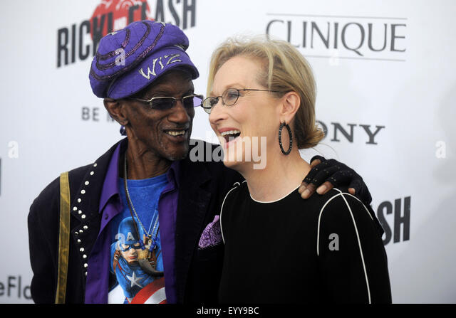 Bernie Worrell and Meryl Streep attending the 'Ricki And The Flash' New York premiere at AMC Lincoln Square - Stock Image