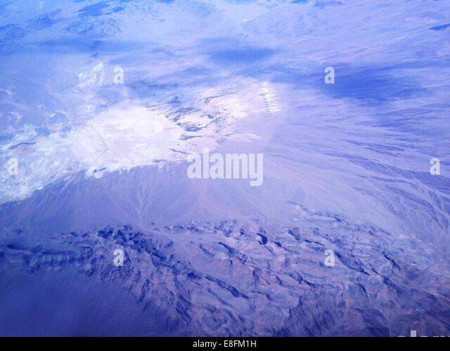 Nevada, United States of America Nevada Desert From Above - Stock Image