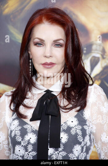Priscilla Presley at the Los Angeles premiere of 'Mad Max: Fury Road' held at the TCL Chinese Theatre IMAX - Stock Image