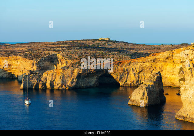 Mediterranean Europe, Malta, Comino island, - Stock Image