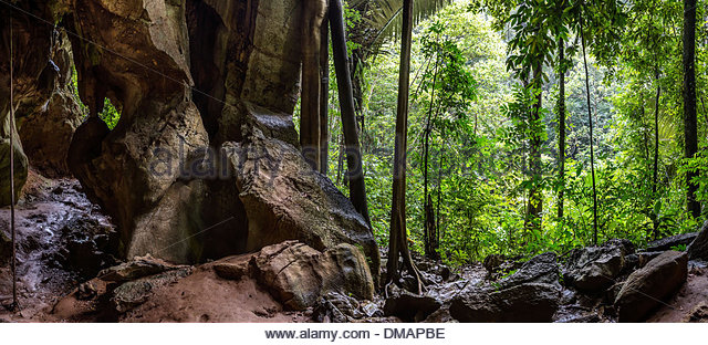 Tiger Cave on Koh Lanta Island near Klongjak Waterfall, Thailand - Stock-Bilder