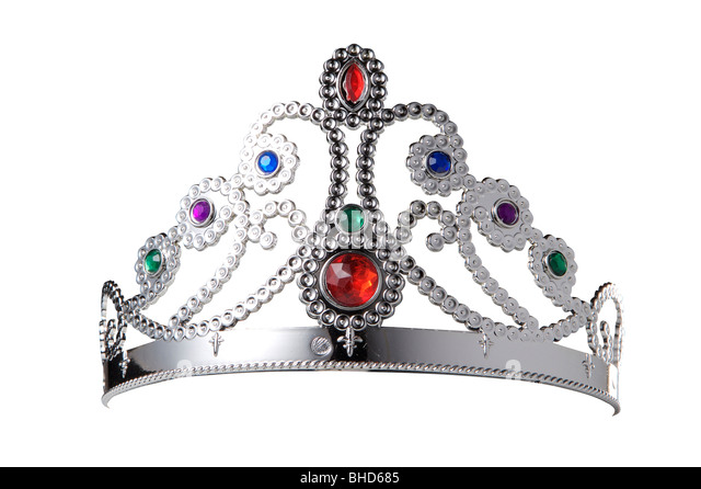 tiara, crown, jewelry, cutout, princess, dressing up, gems, silver - Stock Image
