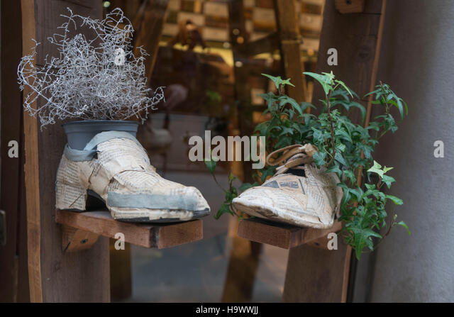 Shoes with flowers, Venedig, Venezia, Venice, Italia, Europe, - Stock Image
