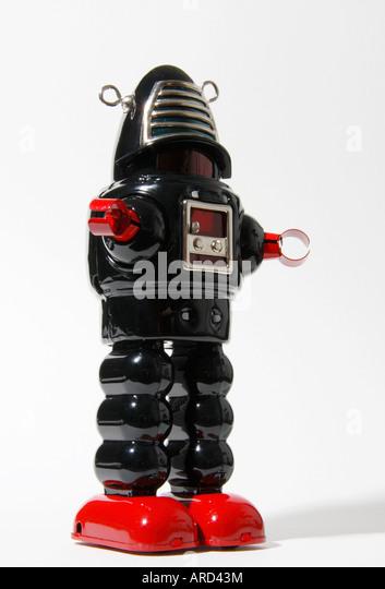 A Robbie style retro robot. - Stock Image