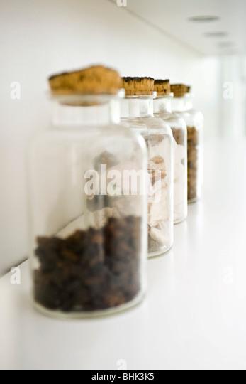 Spice jars - Stock Image