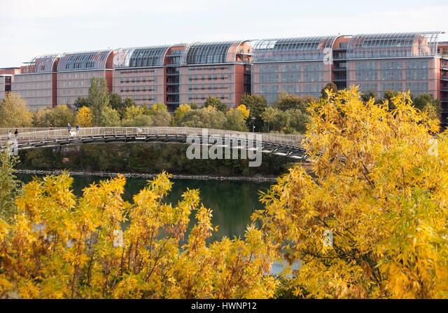 France, Rhone, Lyon, The International Cité. - Stock-Bilder