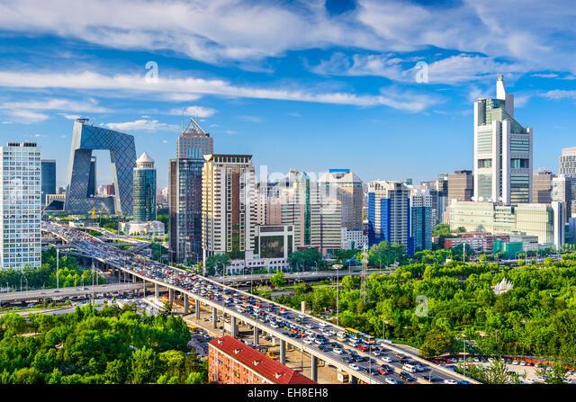 Beijing, China cityscape at the CBD. - Stock Image