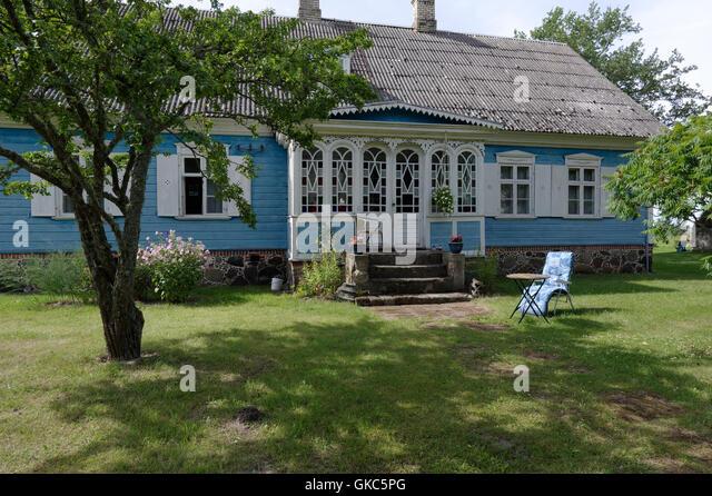 Captain Markson's mansion in village Kabli. Pärnu county. Estonia - Stock Image