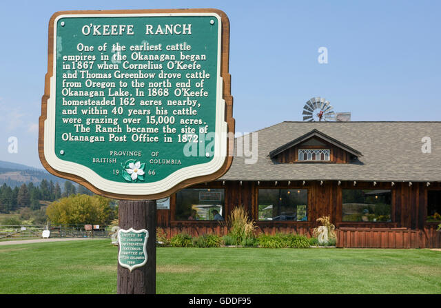 Canada,British Columbia,Okanagan Valley,Vernon,O'Keefe Ranch - Stock Image
