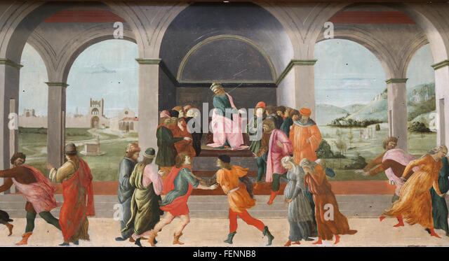 Story of Virginia: By Filippo Lippi (1406-1469). Quattrocento. Louvre Museum. Paris. France. Renaissance. - Stock Image