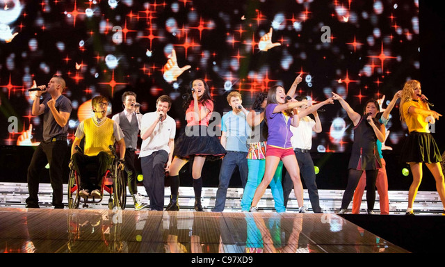 GLEE THE 3D CONCERT MOVIE  2011 TCF film - Stock Image