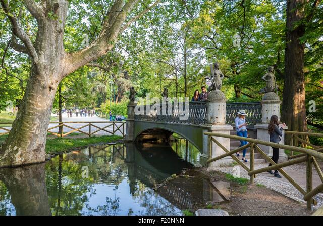 Italy, Lombardy, Milan, the park Sempione - Stock Image