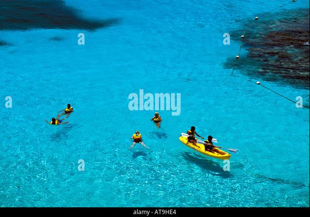 mexico garrafon natural reef park garrafon ecologcial park isla mujeres mx near Cancun - Stock Image
