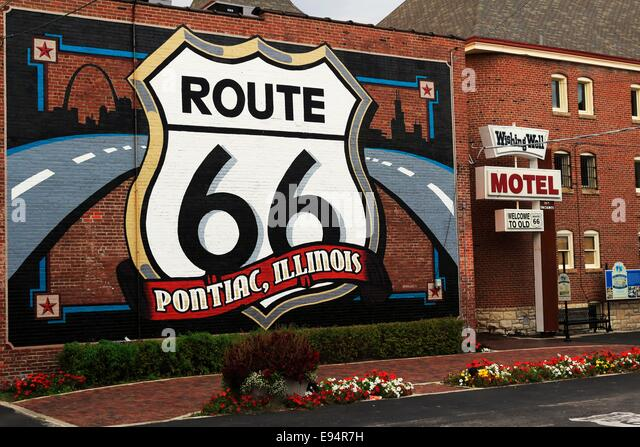 Mother road mural stock photos mother road mural stock for Route 66 mural