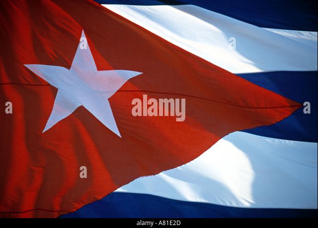 Cuban flag, Cuba - Stock Image