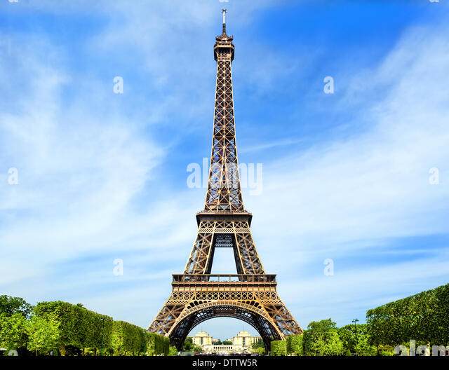 Fantastic Eiffel Tower in Paris - Stock Image