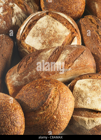 Traditional bread loaves - Stock Image