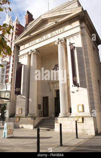 Ask Italian restaurant at The Old Bank, 254 Lord St, Southport PR8 1NY. - Stock Image