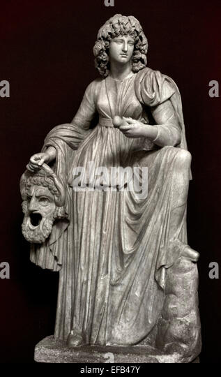 Melpomene, Muse of tragedy. Marble, Roman artwork from the 2nd century CE. ( Vatican Museum Rome Italy ) - Stock Image