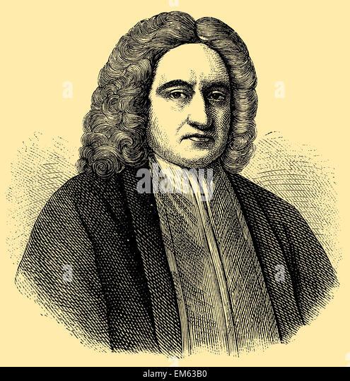 Edmond Halley (1656 – 1742), English Astronomer Royal - Stock Image