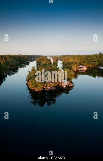 View some private islands  Thousand Islands - Stock Image