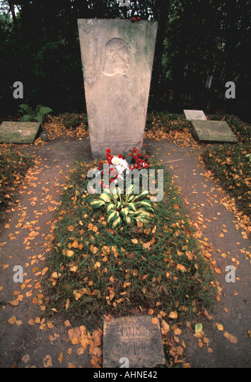 Moscow Russia Boris Pasternak Grave - Stock Image