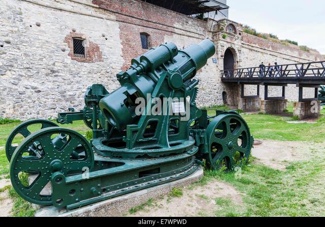 30.5 cm mortar M.11, Kalemegdan, Belgrade Fortress, Belgrade, Serbia - Stock Image