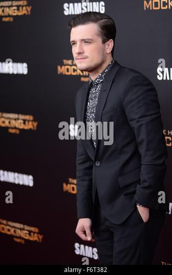 New York, NY, USA. 18th Nov, 2015. Josh Hutcherson at arrivals for THE HUNGER GAMES: MOCKINGJAY – PART 2 Premiere, - Stock Image