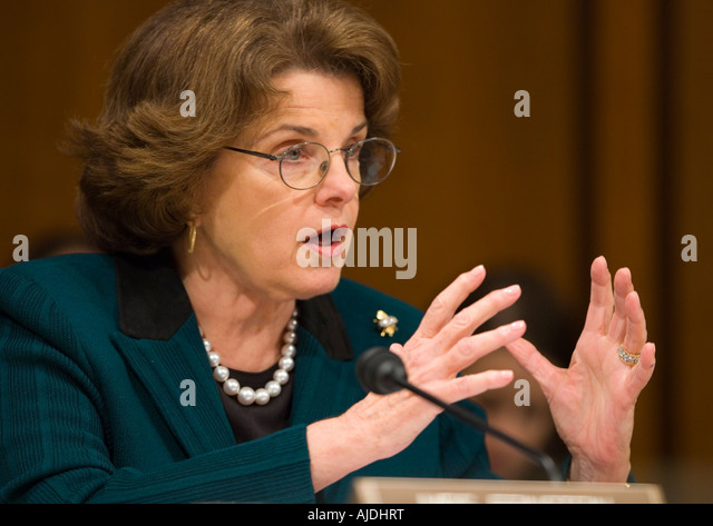 WASHINGTON DC USA U S Senator Dianne Feinstein D CA of the the Senate Judiciary Committee - Stock Image
