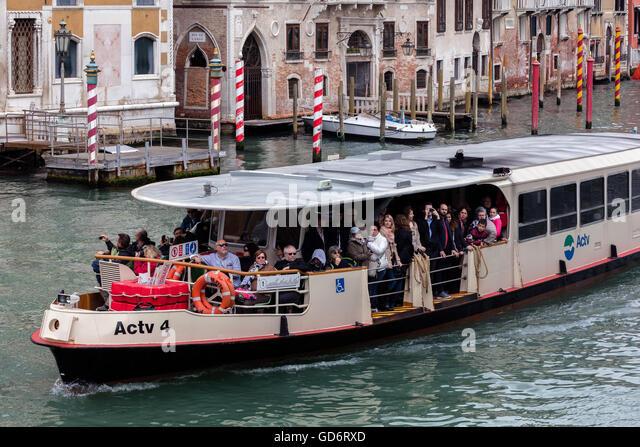 Venice Vaporetto waterbus - Stock Image