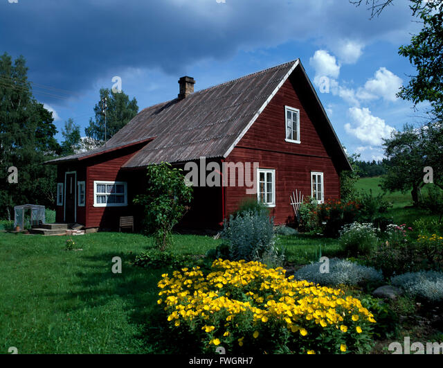 House in Haanjamaa Naturpark, Estonia, Europe - Stock-Bilder