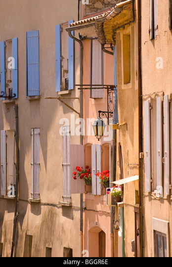 Facade of Buildings, Nyons, Provence, France,Europe - Stock-Bilder